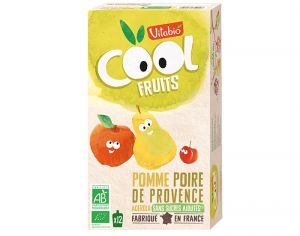 VITABIO Pack Famille Cool Fruits Pomme Poire Williams Acérola - 12x90g