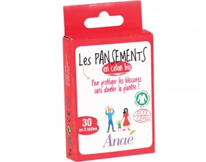 ANAE Lot de 30 Pansements Coton Bio