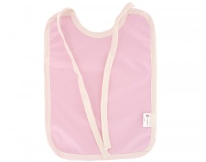 LULU NATURE Grand Bavoir Imperméable en Coton Bio Rose