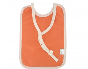 LULU NATURE Grand Bavoir Imperméable en Coton Bio Orange