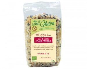MA VIE SANS GLUTEN Muesli aux Fruits Rouges - 375 g