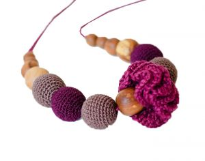 KANGAROO CARE Collier d'Allaitement et de Portage - Classic Cherry and Chocolate