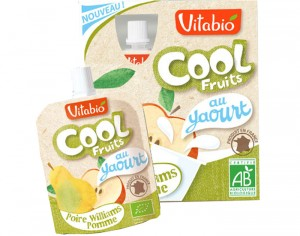 VITABIO Cool Fruits Brassés - Yaourt Poire Williams Pomme - 4 x 85 g