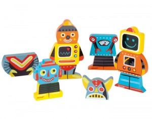 JANOD Funny Magnets Robots - Lot de 4 - Dès 18 Mois