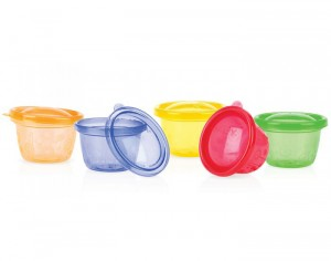 NUBY Pots de Conservation Colorés - 120 ml - Lot de 6