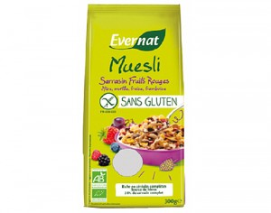 EVERNAT Muesli Sarrasin Fruits Rouges Sans Gluten - 300 g