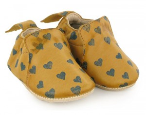 EASY PEASY Chaussons en Cuir Blublu Lovely