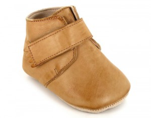 EASY PEASY Chaussons en Cuir Kiny Uni Patin - Or