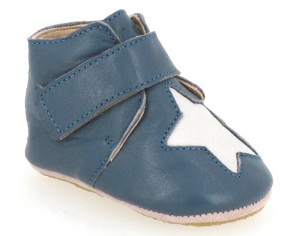 EASY PEASY Chaussons en Cuir Kiny Etoile Patin - Jean