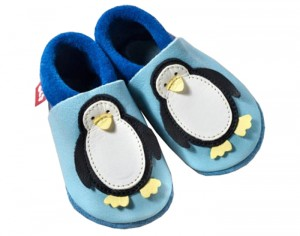 POLOLO Chaussons en Cuir - Pingouin