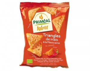 PRIMEAL Triangles de Maïs à la Mexicaine - 50 g