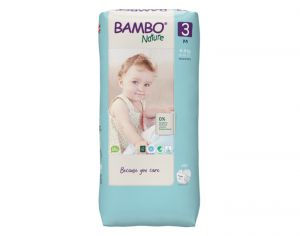 BAMBO NATURE Maxi Pack Eco x4 - Couches Jetables Écologiques T3 - 5-9 kg - 4 x 33 soit 132 couches