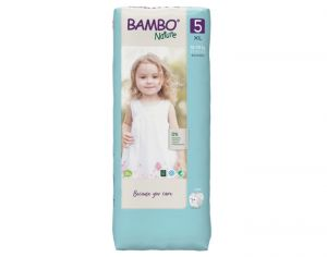 BAMBO NATURE Maxi Pack Eco x4 - Couches Jetables Écologiques T5 - 12-22 kg - 4 x 27 soit 108 couches