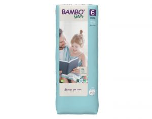 BAMBO NATURE Maxi Pack Eco x4 - Couches Jetables Écologiques T6 - 16-30 kg - 4 x 22 soit 88 couches