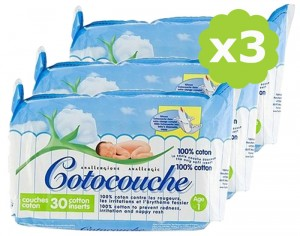 Cotocouche Anallergique - Anti-Irritations - 3 x 30 1er �ge - 0-4 mois - 3x30