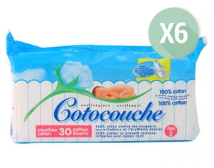 Cotocouche Anallergique - Anti-Irritations - 6 x 30 2�me �ge - d�s 5 mois - 6x30
