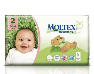 MOLTEX Couches Jetables Eco Nappy - Nature 1 3 - 6 Kg - 42 Couches