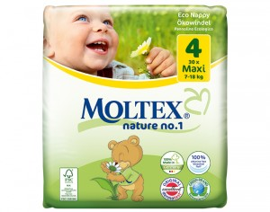 MOLTEX Couches Jetables Eco Nappy - Nature 1 7 - 18 Kg - 30 Couches