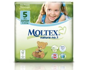 MOLTEX Couches Jetables Eco Nappy - Nature 1 11 - 25 Kg - 26 Couches