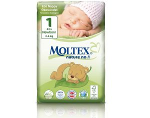 MOLTEX Couches Jetables Eco Nappy - Nature 1