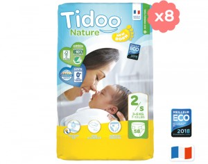TIDOO Pack Ultra Eco Couches Jetables Écologiques - x8 paquets