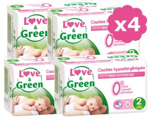 LOVE & GREEN Maxi Pack Eco - Couches Jetables