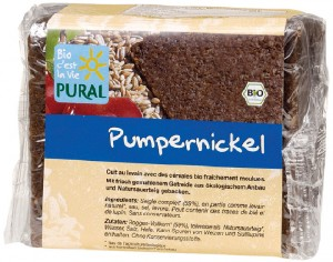PURAL Pain Pumpernickel - 375 g