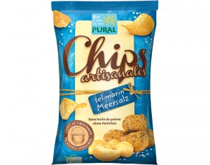 PURAL Chips Artisanales au Sel Marin - 120 g