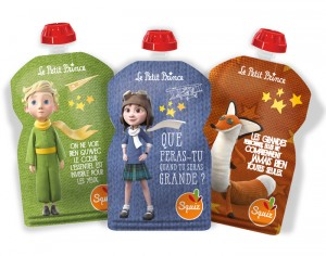 SQUIZ Gourde Souple Le petit Prince Imagination - 130ml - Lot de 3