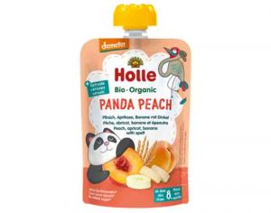 HOLLE Gourde Pêche Abricot Banane Epeautre - 90 g