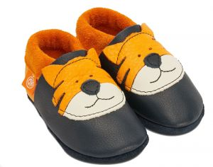POLOLO Chaussons en Cuir - Tom le Tigre