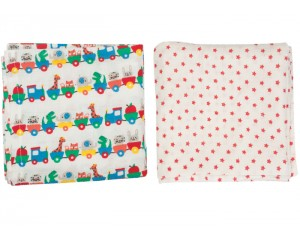FRUGI Lot de 2 Langes B�b� - Balade en Train