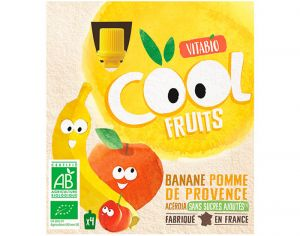 VITABIO Cool fruits - Paquet de 4 gourdes - 4 x 90g