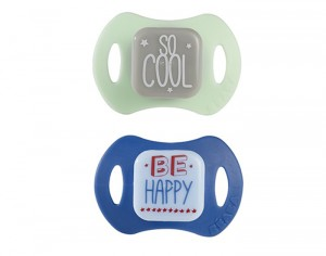 BEABA Lot de 2 Sucettes Ergonomiques Silicone - Happy and Cool
