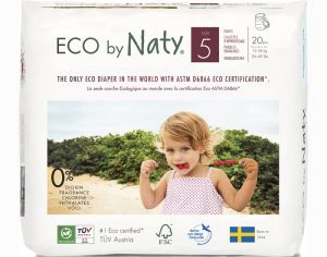 NATY Culottes d'Apprentissage Jetables ECO - Taille 5 Junior 12-18 kg Paquet de 20 couches