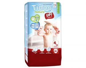 TIDOO Culottes d'Apprentissage Eco - Taille 4 Maxi - 8-15 kg 4 x 38 soit 152 culottes