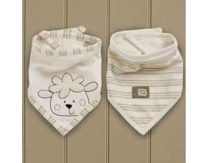 NATURESPUREST Sleepy Sheepy - Lot de 2 Bavoirs