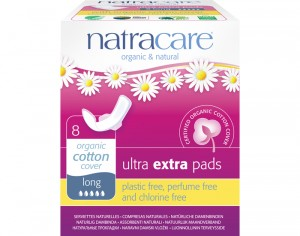 NATRACARE Serviette Hygiénique Ultra Extra à Ailettes - Long