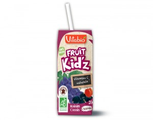 VITABIO Fruit Kid'z Raisin Cassis Acérola - 3 x 20 cl