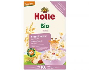 HOLLE Muesli Junior Multi-Céréales Fruits - 250 g - Dès 10 mois