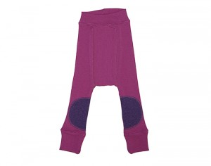 MANYMONTHS Longies B�b� Protections Genoux - Laine M�rinos - Violet