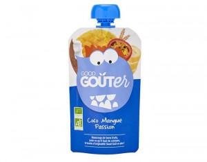 GOOD GOUTER Gourde de Fruit 120 g - Coco, Mangue, Passion - Dès 36 mois