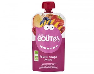 GOOD GOUTER Gourde de Fruit 120 g - Fruits Rouges, Avoine - Dès 36 mois