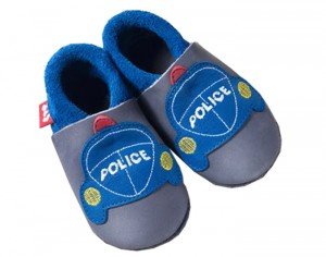 POLOLO Chaussons en Cuir - Police