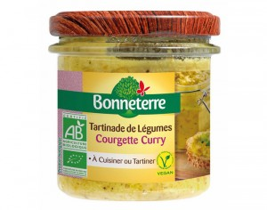 BONNETERRE Tartinade de Légumes - Courgette Curry - 135 g