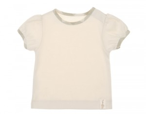 NATURAPURA T-Shirt Fille Bordure Vichy - Dili