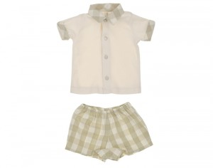 NATURAPURA Ensemble Polo et Short Vichy - Nice