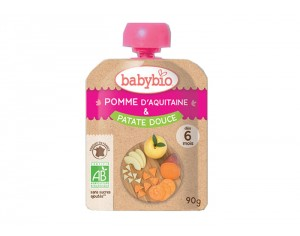 BABYBIO Gourde Pomme Patate Douce - 90g