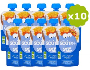 GOOD GOUTER Gourde de Fruit - Coco, Mangue, Passion - Dès 36 mois - 10 x 120g