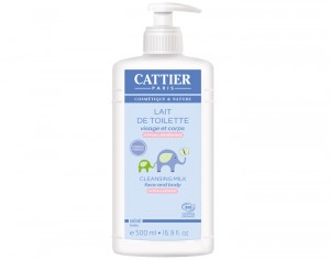 CATTIER Lait de Toilette Bébé 500 ml